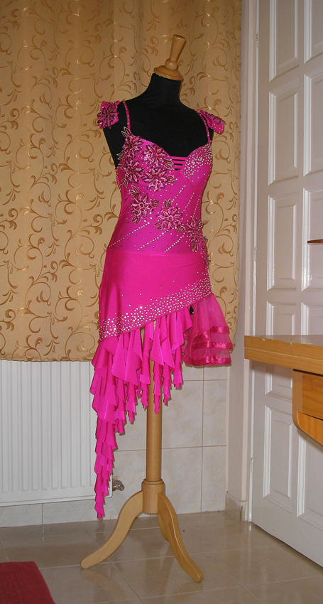 L867 Electric Pink Latin Dance Dress For Sale Dreamgown