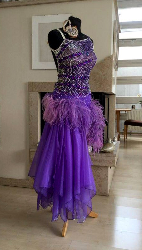 M638 Purple Latin Dance Dress For Sale Dreamgown