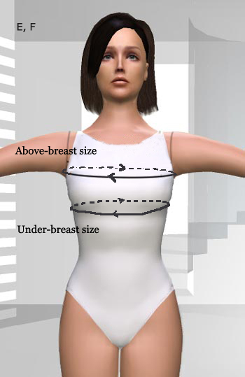 under above breast