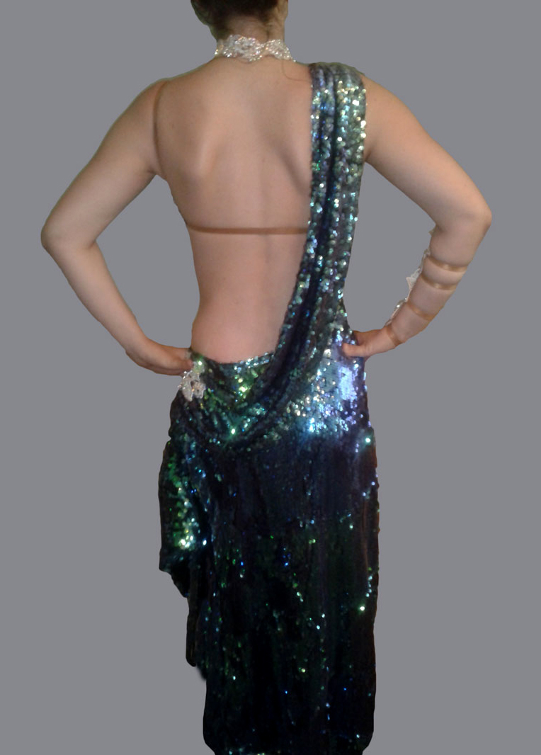 M322 Green Latin Dance Costume For Sale Dreamgown
