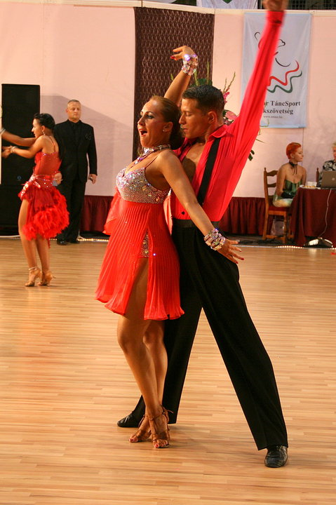 c211c6217a M065 Fluorescent Red Latin Dance Costume for sale - Dreamgown
