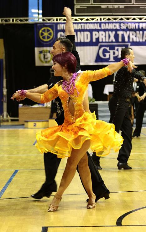 bd8b0f1592 M718 Orange yellow Latin Dance Dress for sale - Dreamgown