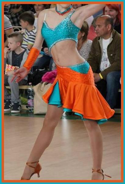 576a828b08 M756 Jade Orange Latin Dance Dress for sale - Dreamgown